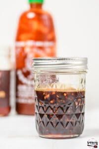 Honey sriracha sauce in a jar