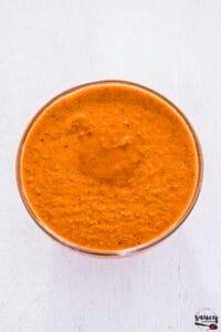 Peri Peri sauce mixed in a bowl