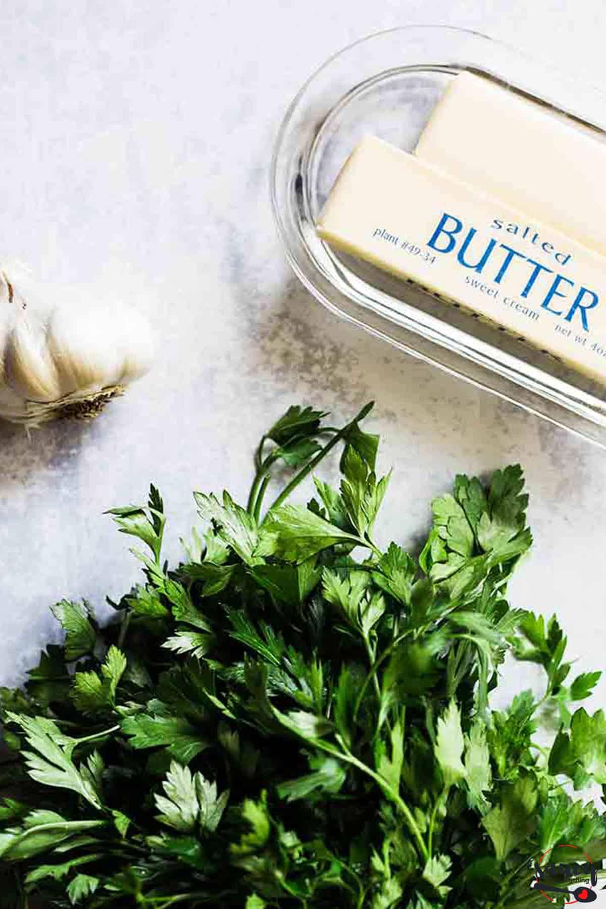 ingredients for garlic butter