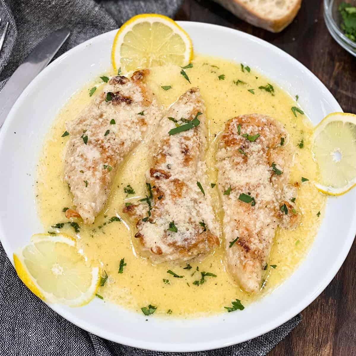 Lemon butter chicken tenders
